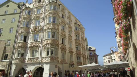 ornamental palace near Goldenes dachel, Innsbruck Footage