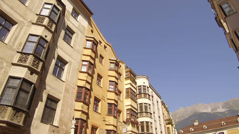 ancient palaces in the Maria-Theresien-Strasse area, innsbruck Footage