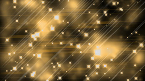 Golden Parallel Lines, Stars and Blurred Lights Animation