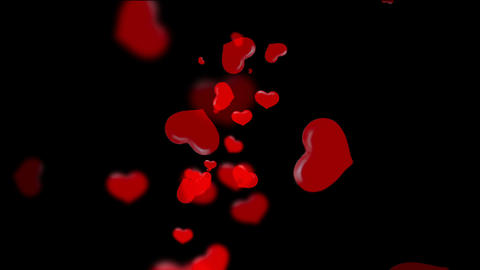 Translucent Red Hearts Floating Animation