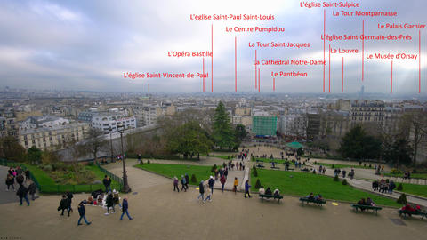 View of Paris from Montmartre Footage