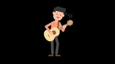 Man Playing Guitar Standing Animation