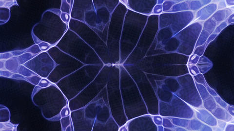 Abstract Blue Energy Light Loop Animation