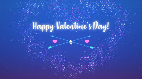 Happy Valentines Day - Arrows Animation
