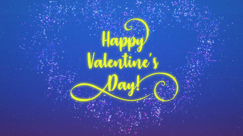 Happy Valentines Day - Vignette Text CG動画素材