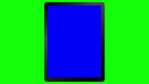 Tablet Animation on a Green Screen Animation