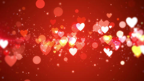 Romantic Valentine background, looped Animation