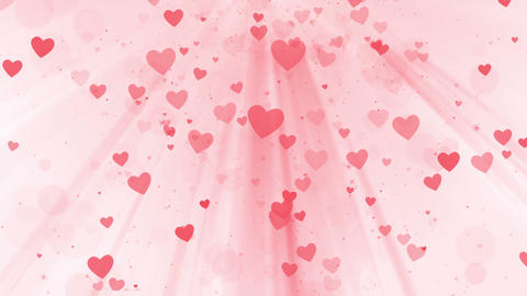 Heart falling on pink background, looped Animation