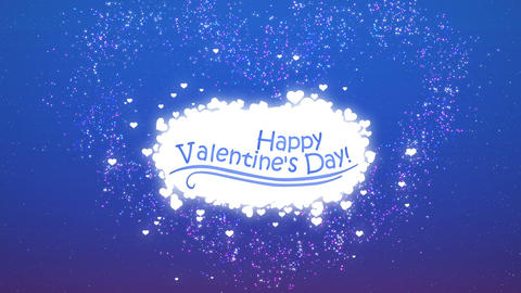 Happy Valentines Day - Cloud CG動画素材