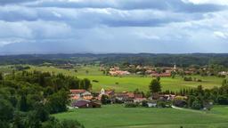 Alpine foothills, Landscape, Upper Bavaria, Germany, Europe Footage