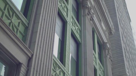 building's facade in new york city from moving Footage