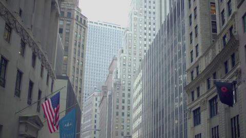 office buildings looming overhead, NY, USA Footage