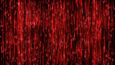 Data Digital Code Red Background Animation