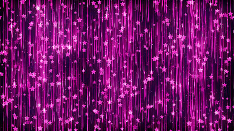Stars Magenta Particles Background Animation