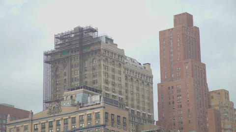 restoration of a historic building in New York Footage