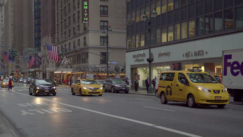 Street Scene, Manhattan, New York City, Ny, Usa Footage