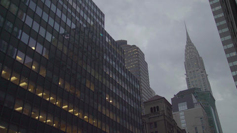 Chrysler Building and office buildings Footage