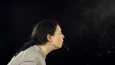 Woman Sneezing Slow Motion Image