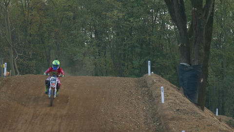 Motocross Race Slow Motion Footage