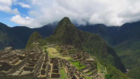 A view of the ancient city of the Incas, Machu Picchu, Peru Footage