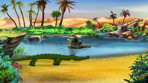 Little Crocodile Runs Animation