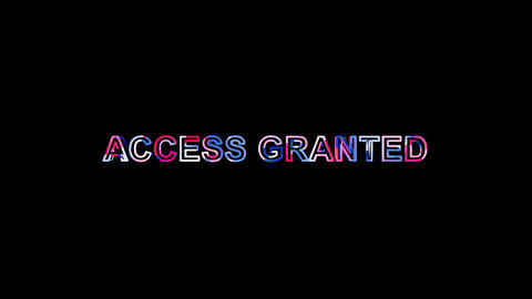 Letters are collected in common expression ACCESS GRANTED, then scattered into Animation