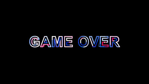 Letters are collected in common expression GAME OVER, then scattered into Animation