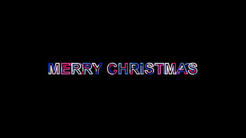 Letters are collected in congratulation MERRY CHRISTMAS, then scattered into Animation