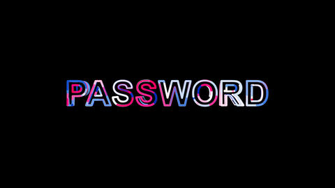 Letters are collected in text PASSWORD, then scattered into strips. Bright Animation