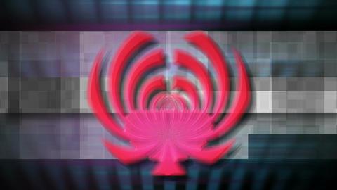 digital logo Stock Video Footage