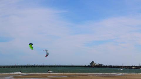 kitesurfing Stock Video Footage