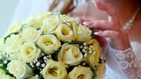 Wedding Roses Bouquet stock footage