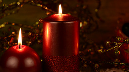 Christmas candles Footage