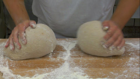 german bakery kneading bread frontal slow motion 10769 Stock Video Footage