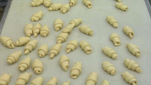 german bakery many marzipan roll bun wide 10774 Stock Video Footage