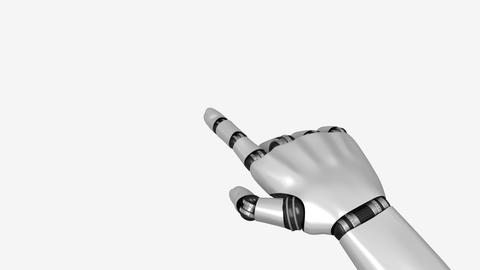 Artificial Robot Hand Clicks On Screen Stock Video Footage