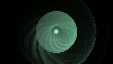 abstract rotating green object on black Stock Video Footage