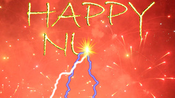 HAPPY NEW YEAR fireworks Stock Video Footage