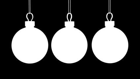 Christmas Balls Loop (HD 30fps + Alpha) Stock Video Footage