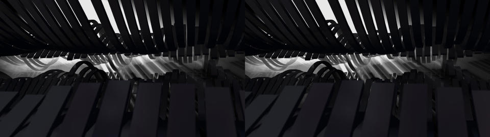 Metal Waves - Stereoscopic 3D Stock Video Footage