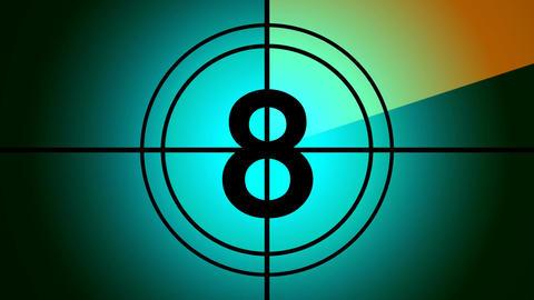 retro countdown Stock Video Footage