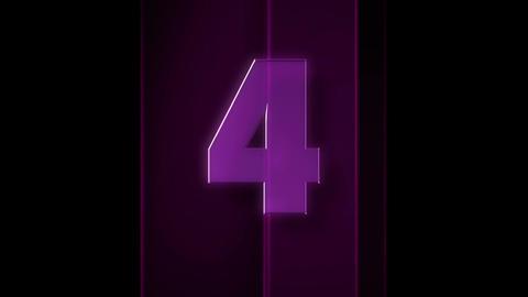 glass countdown Animation
