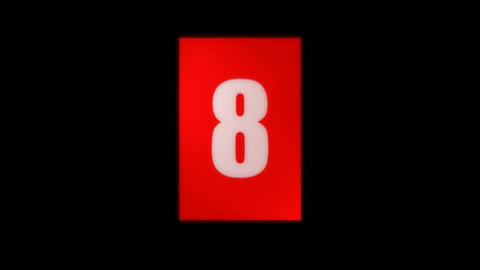 flip countdown Stock Video Footage