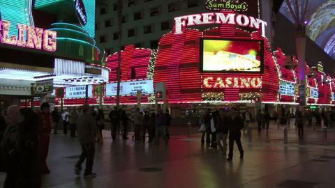 Pedestrians in Las Vegas Footage