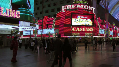 Pedestrians in Las Vegas Stock Video Footage