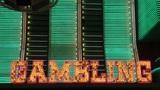 The word Gambling in neon lights Footage