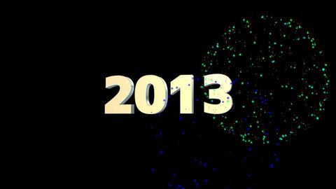 2013 花火 Stock Video Footage