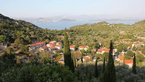 Croatian Island Stock Video Footage