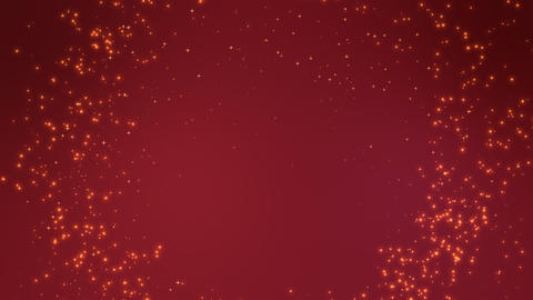 Shiny sparks making circle around red background Stock Video Footage