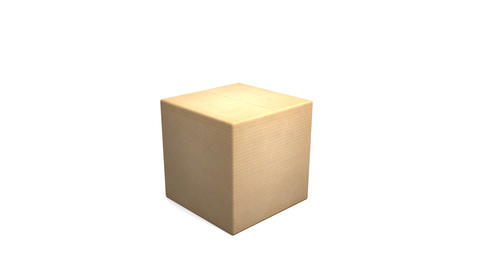 Cardboard Box with Earth Zoom Stock Video Footage